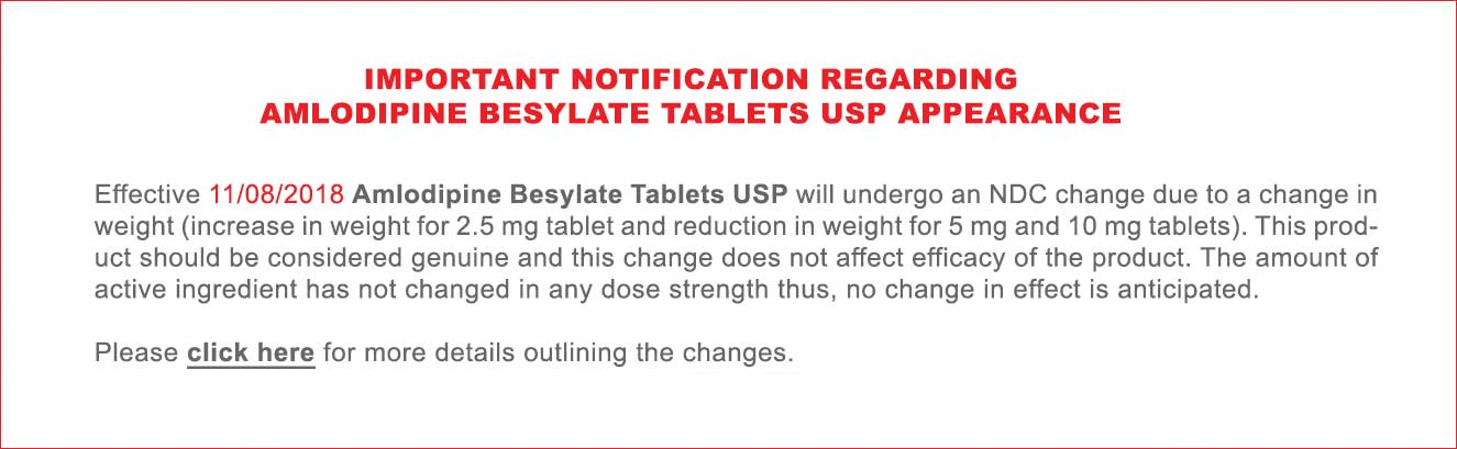 amlodipine tablets notice