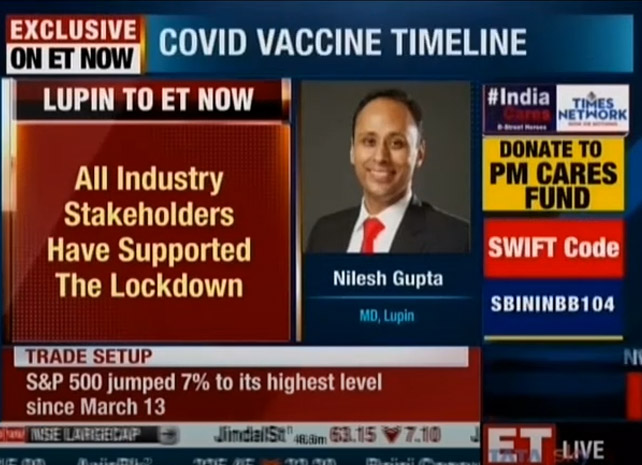 Coping with COVID-19 – Mr. Nilesh Gupta on ET Now