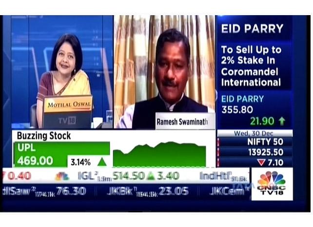 Mr Ramesh Swaminathan on CNBC TV18 Bazaar