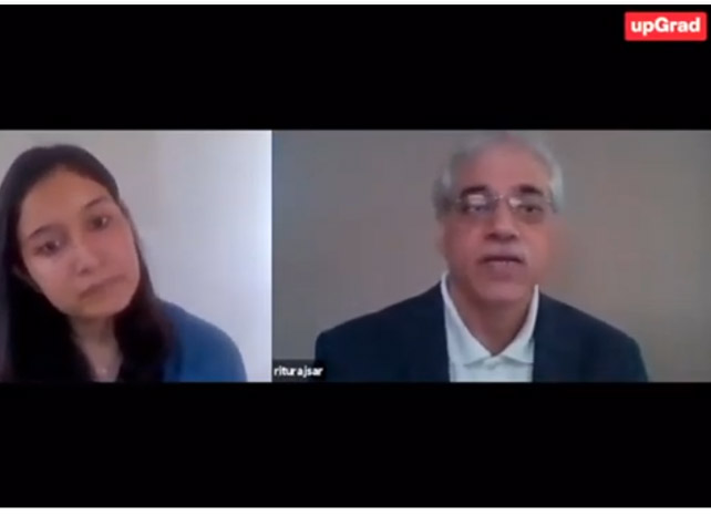 Mr. Rituraj Sar, Vice President and Head – Learning & Development, is in conversation with Tanushree Jaiswal from UpGrad discussing career opportunities in the Pharma industry, and how the Pharma industry is evolving post COVID