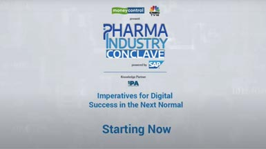 Ramesh Swaminathan in the Moneycontrol Pharma Industry Conclave