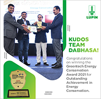 Greentech Enery Conservation Awards 2021 for Outstanding Achievement in Energy Conservation